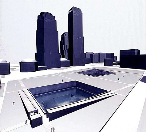 Original WTC Memorial Proposal by Arad