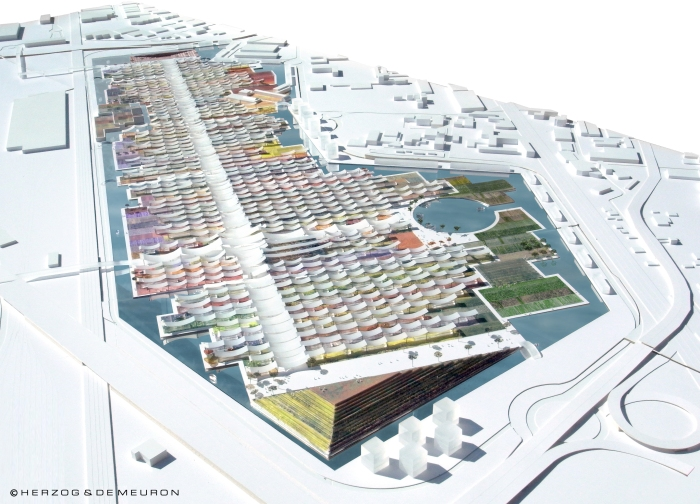 Overall aerial view, Expo Milan 2015 (Courtesy of Herzog & de Meuron)