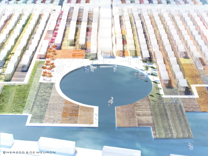 A mini harbour off the canals, Expo Milan 2015 (Courtesy of Herzog & de Meuron)