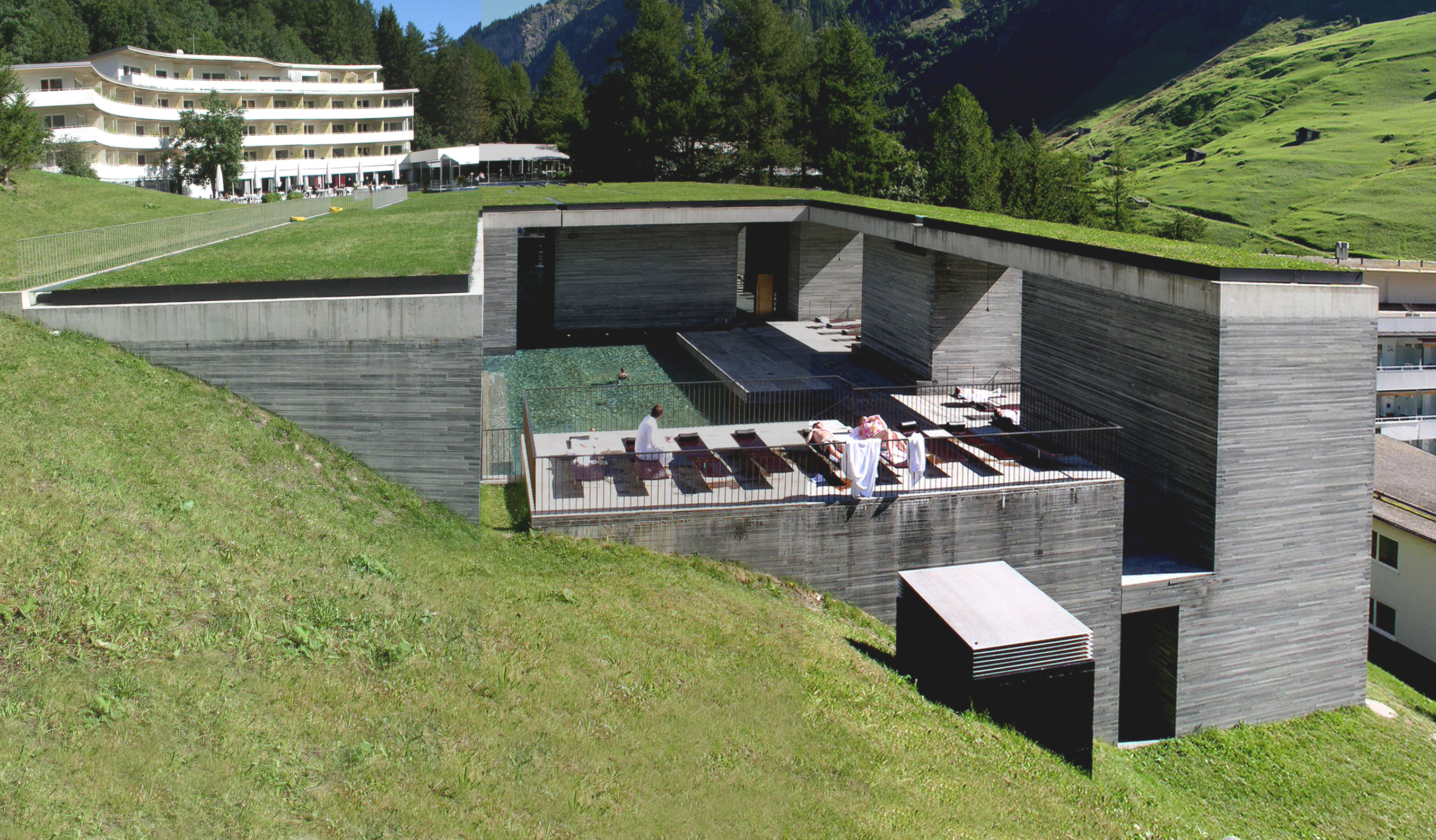 Hotel therme vals peter zumthor arkhitekton for Design hotel vals