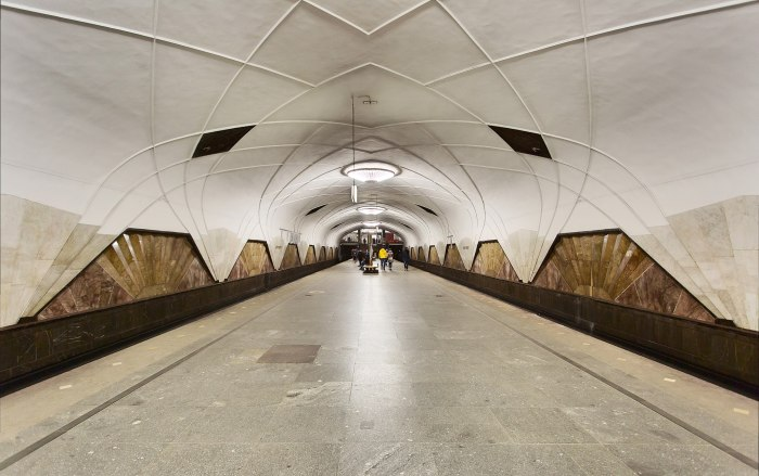 Aeroport Metro Station, Moscow (1938)